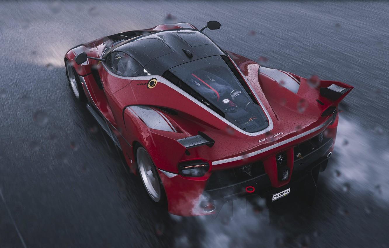 Photo wallpaper track, Ferrari, sports car, FXX-K