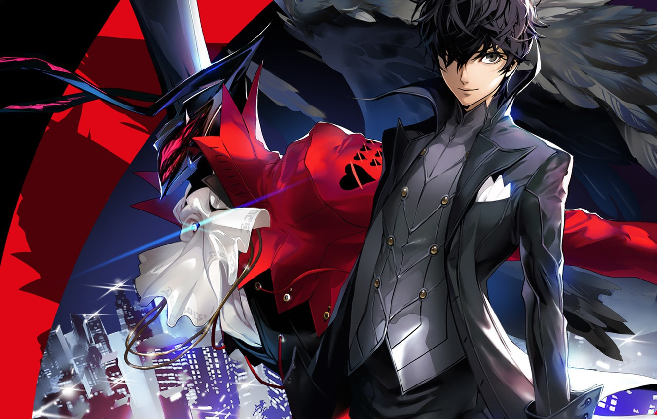 Wallpaper Hat Look Person 5 Guy The Demon Persona 5 Being