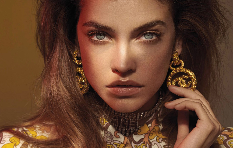 Photo wallpaper look, girl, model, portrait, earrings, Vogue, Barbara Palvin