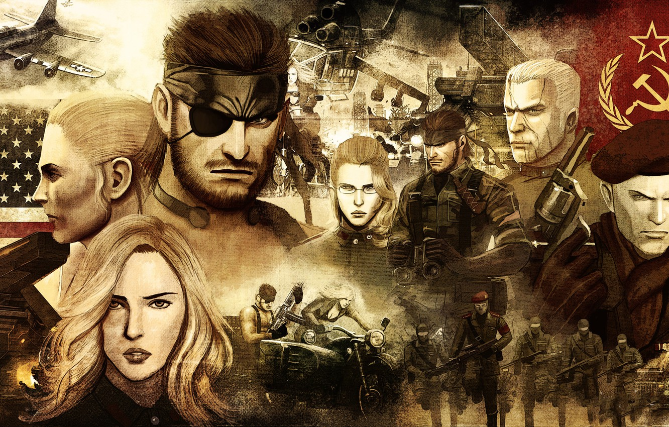 Wallpaper Collage The Plane Portraits Metal Gear Solid 3 Snake