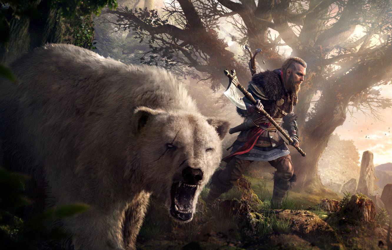 Wallpaper Game Axe Bear Axe Bear Games Viking Viking Eivor Valhalla Assassin S Creed Valhalla Eivor Images For Desktop Section Igry Download