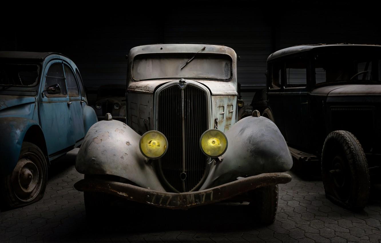 Photo wallpaper machine, background, garage