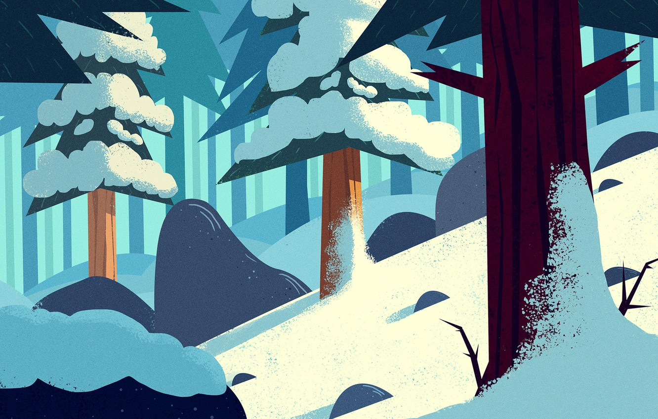 Wallpaper Winter Snow Forest Tree Art Cold Trees Cartoon Cold Environment By Andrey Syailev Andrey Syailev Images For Desktop Section Art Download 215,314 winter tree cartoons on gograph. wallpaper winter snow forest tree