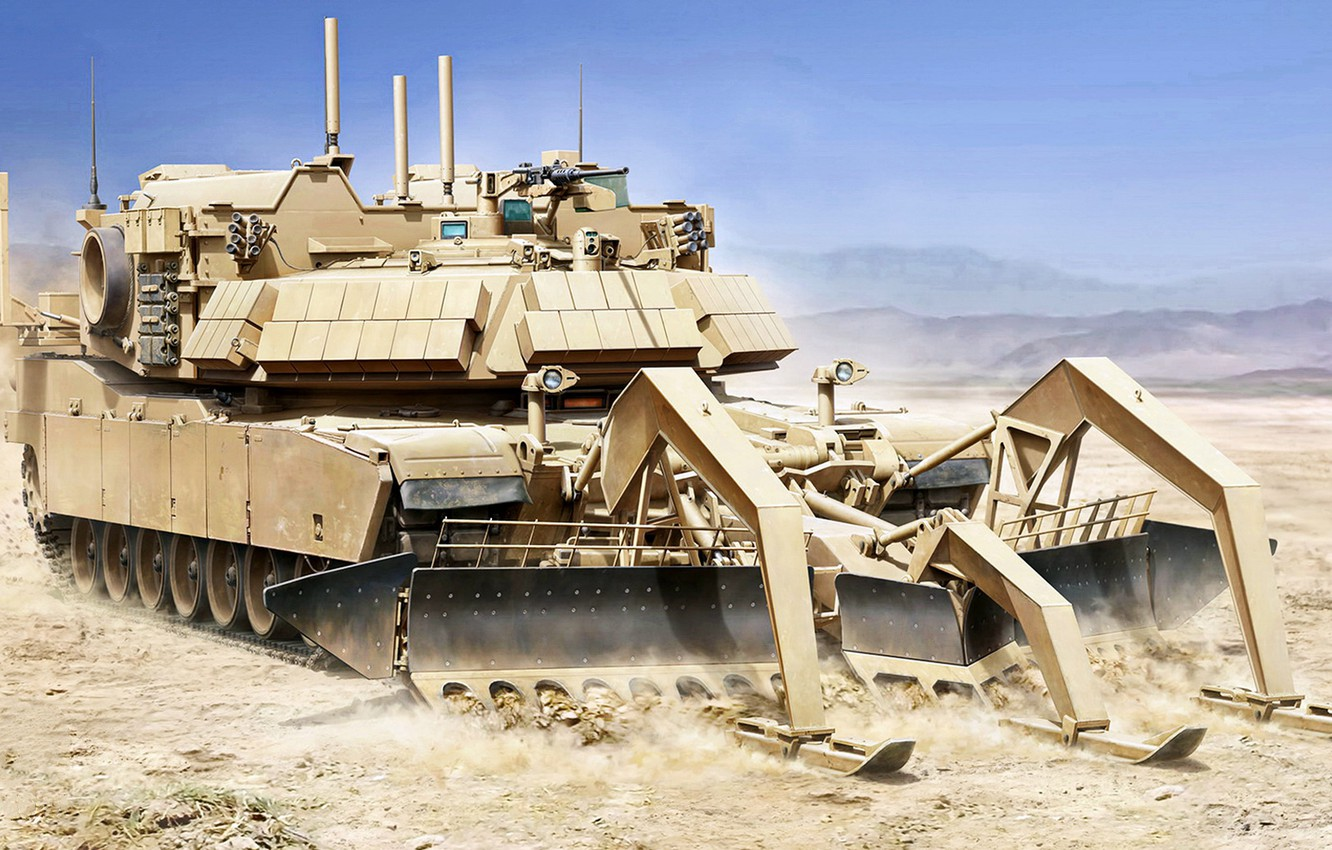 Wallpaper armored vehicle, the engineering obstacle clearing machine,  Assault Breacher Vehicle, special tank, Engineering tank, ABV, sapper tank,  M1150, multifunctional engineering, Military Engineering Vehicle images for  desktop, section оружие - download