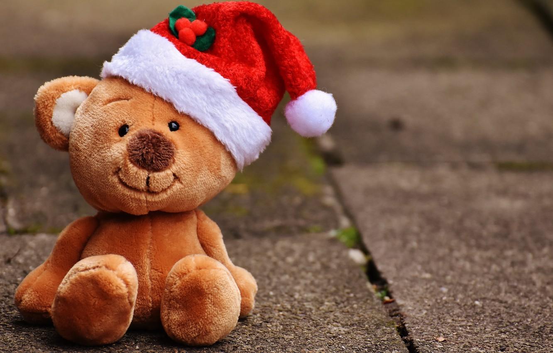 Photo wallpaper photo, toy, Christmas, bear