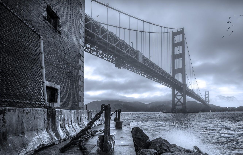 Photo wallpaper bridge, channel, San Francisco, Golden Gate Bridge, San Francisco