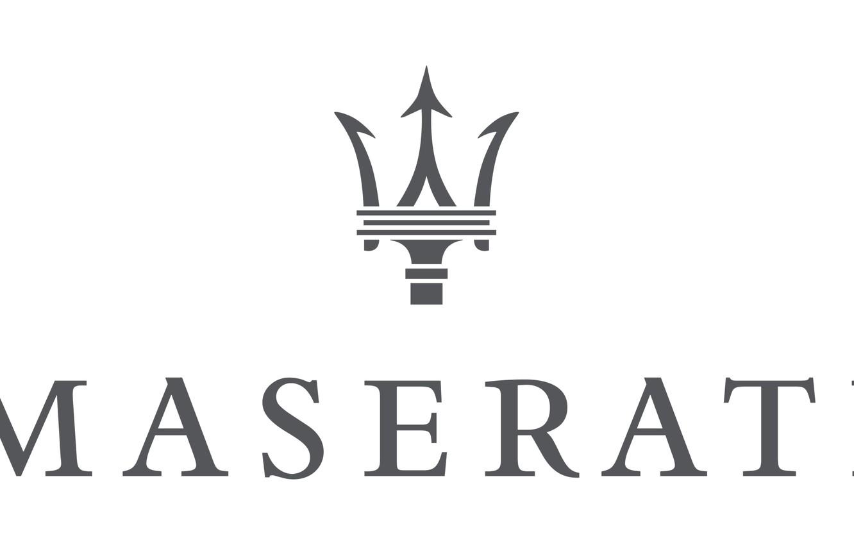 Photo wallpaper white, grey, logo, logo, white, maserati, Maserati, gray
