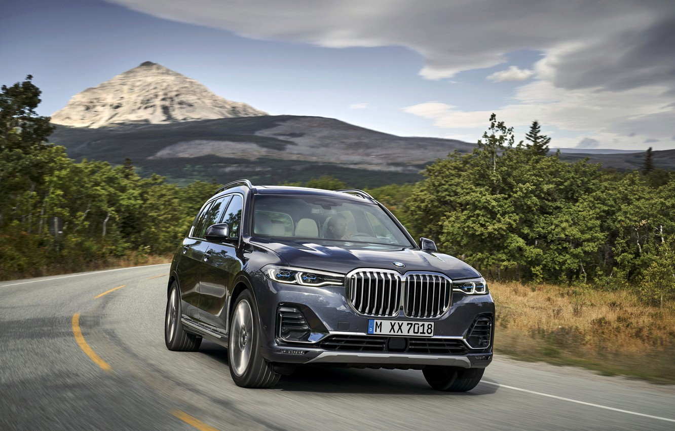 Photo wallpaper road, mountain, BMW, 2018, crossover, SUV, 2019, BMW X7, X7, G07