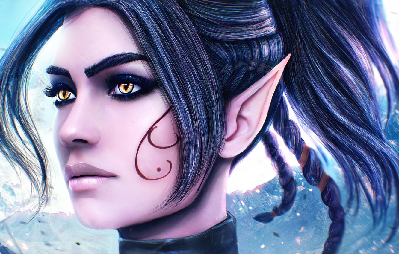 Wallpaper Girl Face Elf Beauty Ears Art Sebille Divinity