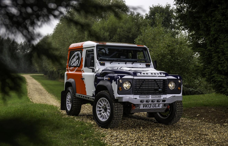 Photo wallpaper greens, Land Rover, Defender, 2013, 2014, Challenge, Bowler