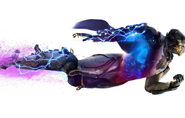 Photo wallpaper storm, lightning, power, bioware, Electronic Arts, Anthem, STORM, EXOSUITS, JAVELIN