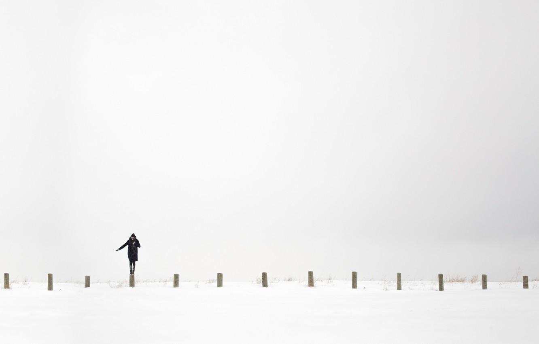 Photo wallpaper white, girl, background, Minimalism