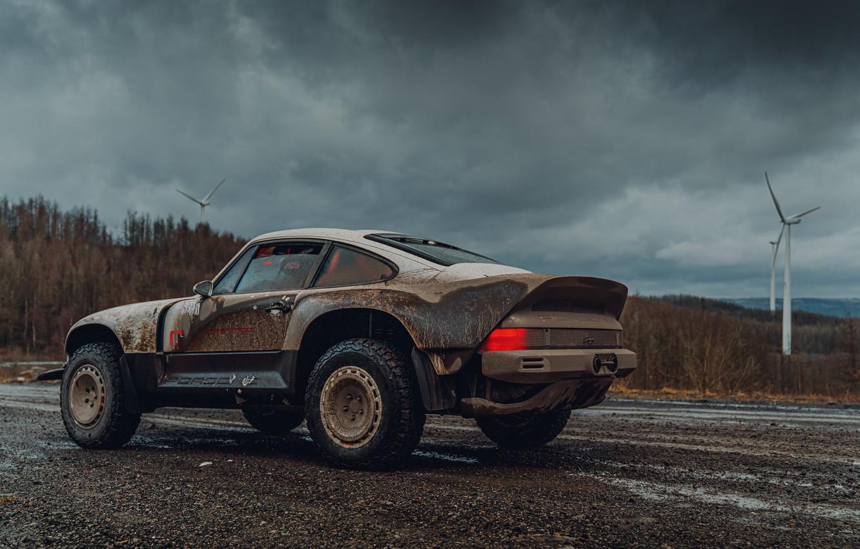 Photo wallpaper 911, Porsche, dirt, Singer, acs, 2021, BF Goodrich, SCRS, All-terrain Competition Study