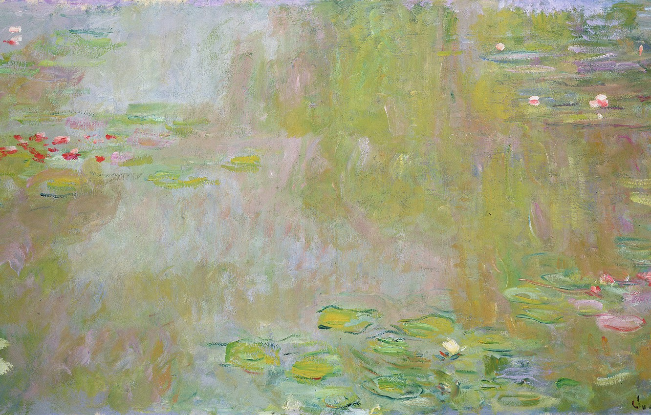 Wallpaper Claude Monet 1917 Lilies Pond The Water Images