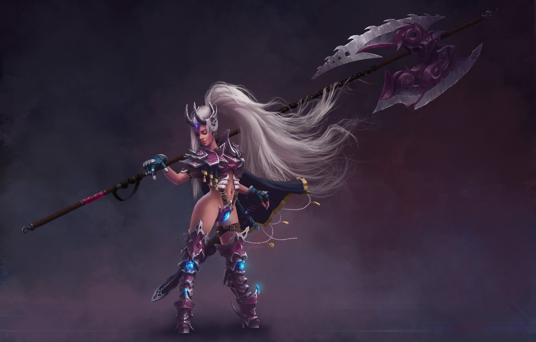 Photo wallpaper girl, weapons, armor, warrior, warrior, League of Legends