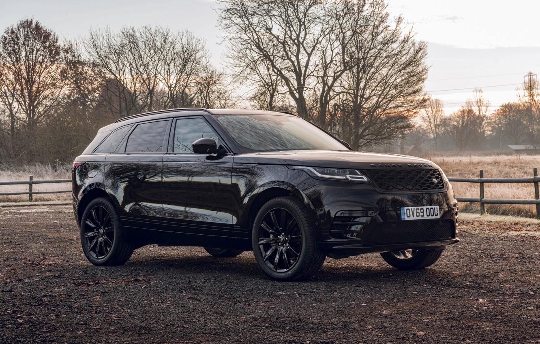Photo wallpaper black, Land Rover, Range Rover, SUV, 2020, Velar, Velar R-Dynamic Black Limited Edition