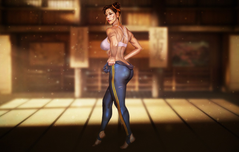 Photo wallpaper Girl, Art, Art, Figure, Street Fighter, Chun-Li, Chun Li, Characters, Game Art, madeinkipish, Comic Art, …
