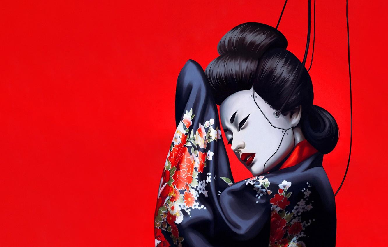 Wallpaper Girl Minimalism Japan Asian Japan Geisha Japanese