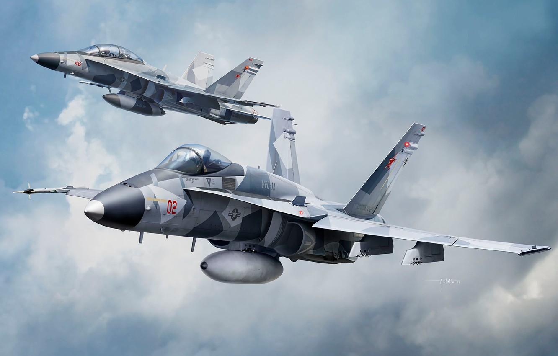 Обои Mcdonnell, jet, Douglas, fighter, fa. Авиация foto 11