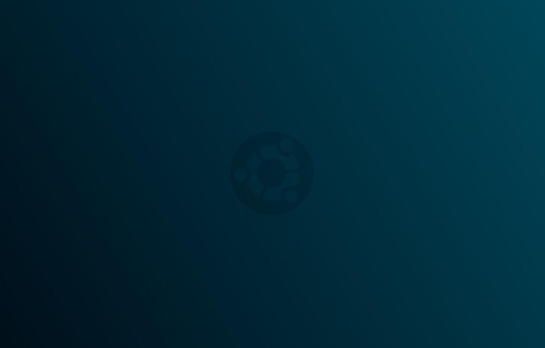 Photo wallpaper linux, ubuntu, minimalism, blue, gradient