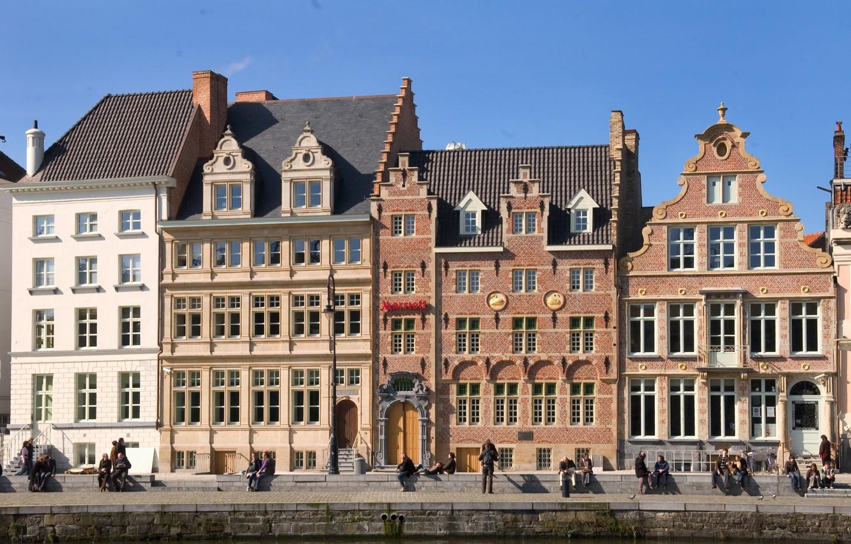 Photo wallpaper home, Belgium, architecture, Ghent
