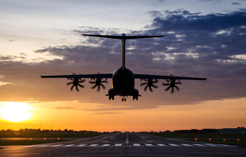 Photo wallpaper airport, the plane, A400M Atlas
