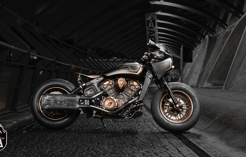 Photo wallpaper Custom, Motorbike, Bobber