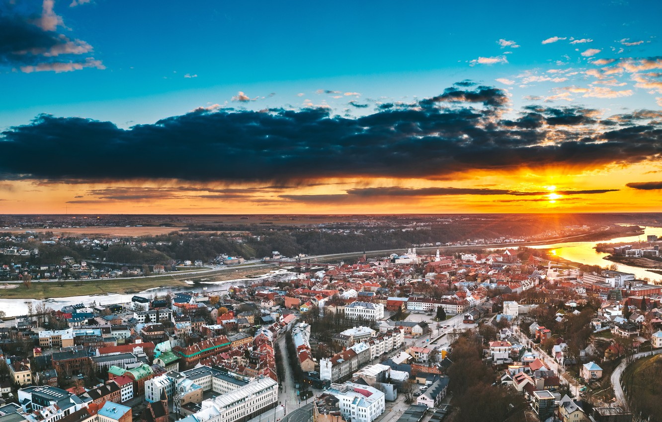 Photo wallpaper the city, Lithuania, Kaunas