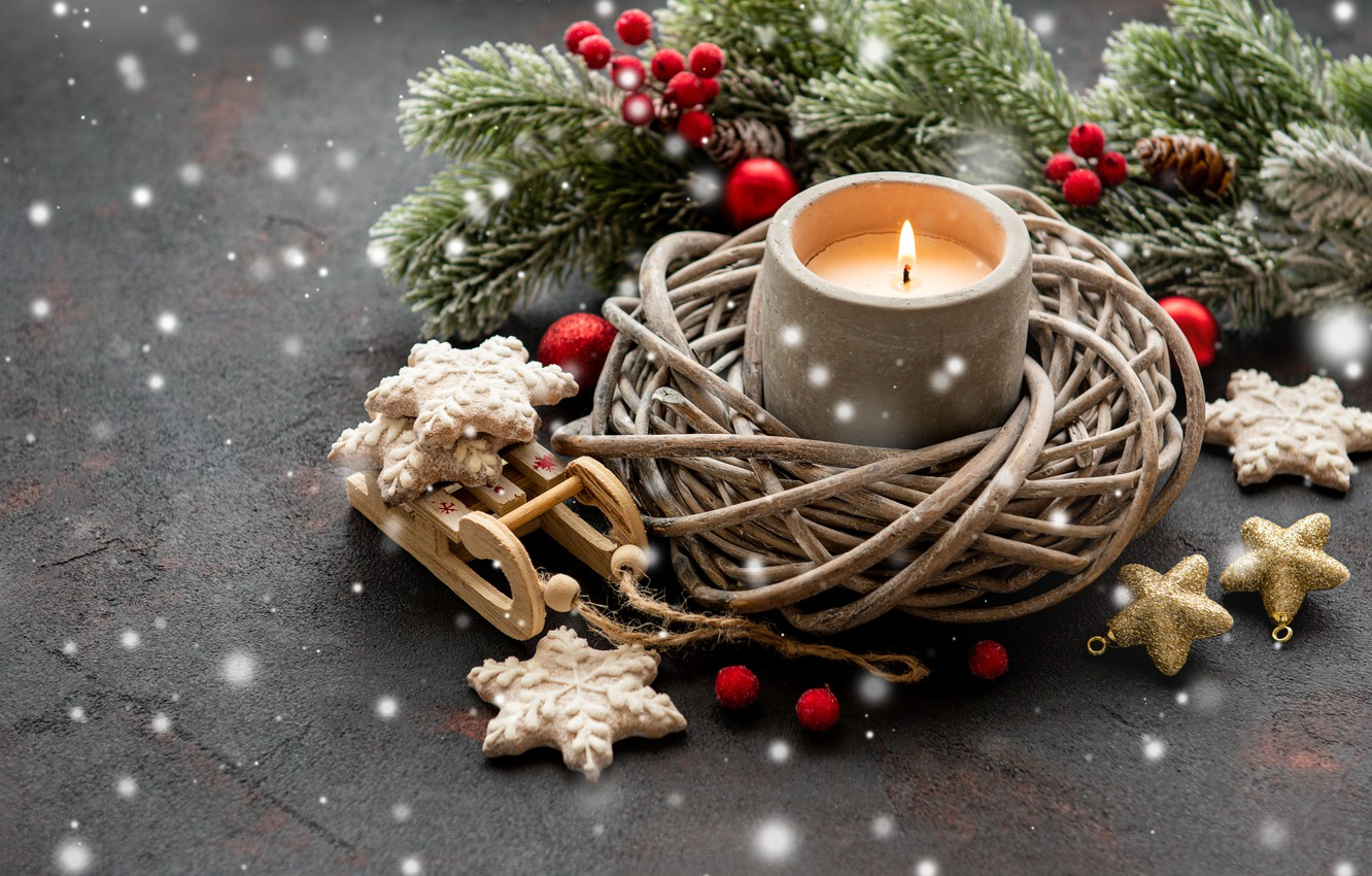 Wallpaper Holiday Christmas Candle Decoration Images For
