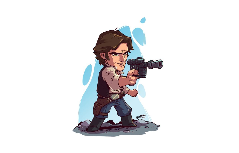 Photo wallpaper Star Wars, Han Solo, Derek Laufman