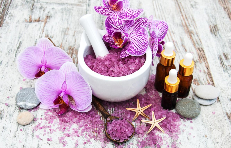 Photo wallpaper flower, Orchid, Spa, salt, Olena Rudo