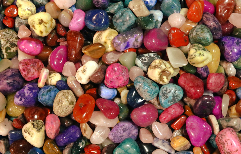 Photo wallpaper macro, colorful, pebbles