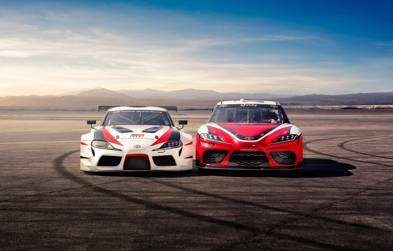 Photo wallpaper Toyota, front view, Supra, 2018, GR Supra Racing Concept, Xfinity