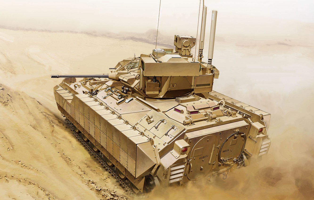 Photo wallpaper USA, US Army, infantry fighting vehicle, reconnaissance vehicle, BMP, M3A3 Bradley US Cavalry Fighting Vehicle, …