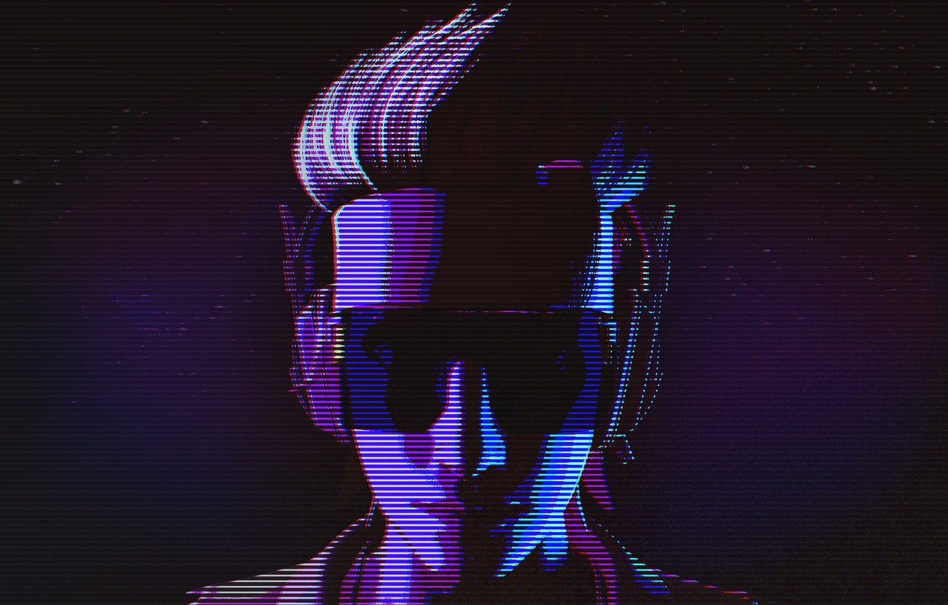 Wallpaper Music, Background, 80s, Neon, Illustration, Characters