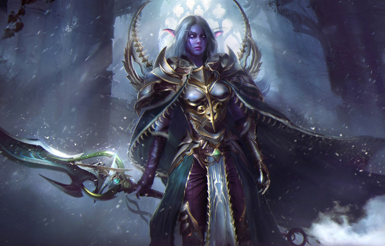 Wallpaper Girl Sword World Of Warcraft Warcraft Wow Art