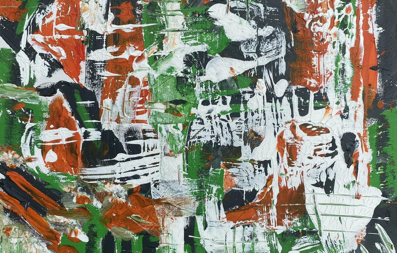 Photo wallpaper paint, strokes, canvas, strokes