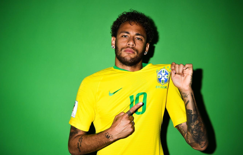 Photo wallpaper football, player, Neymar, Neymar, FIFA World Cup 2018, Russia 2018