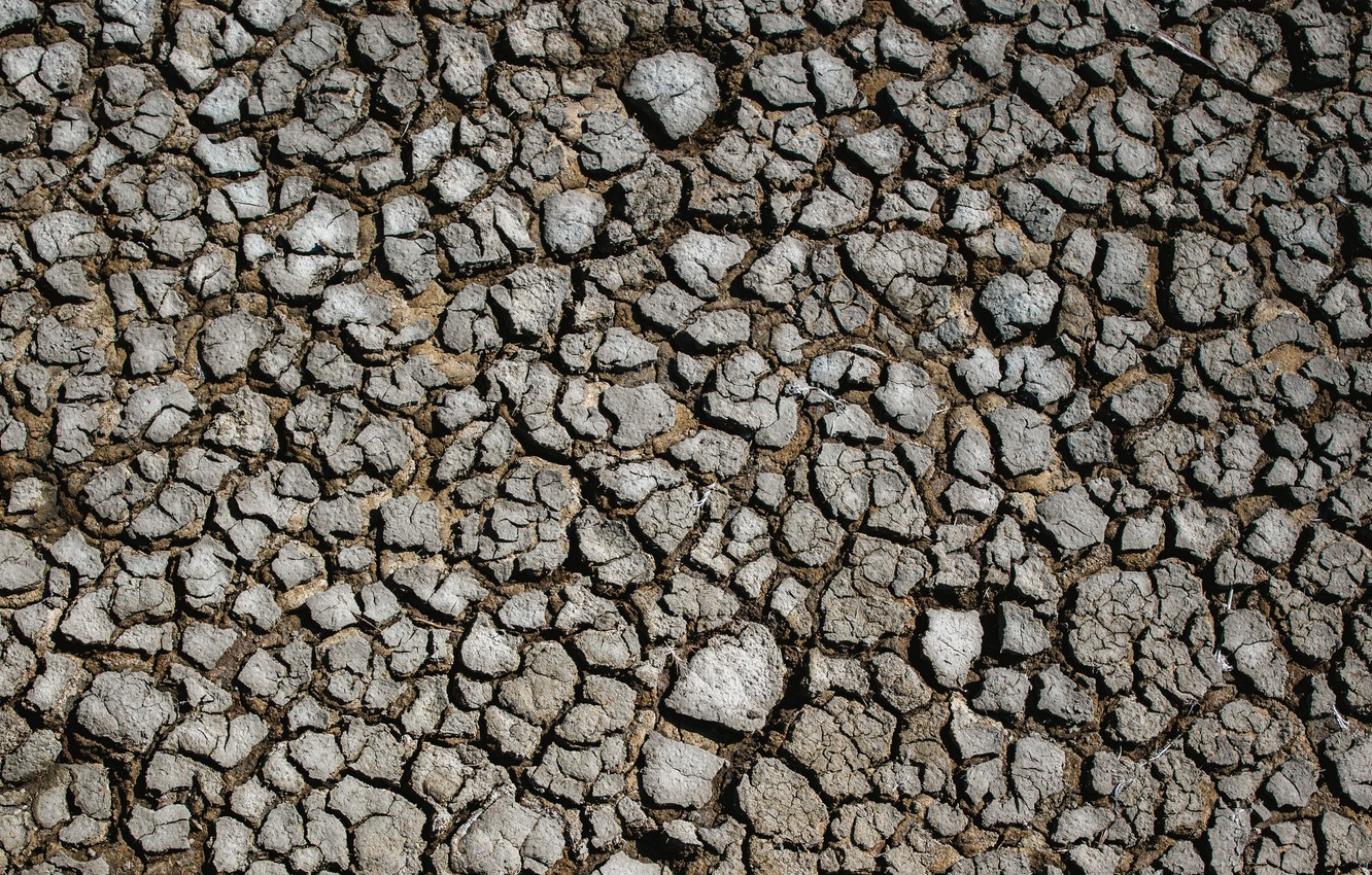 Photo wallpaper surface, cracked, earth, drought, land, drought, surface, cracks