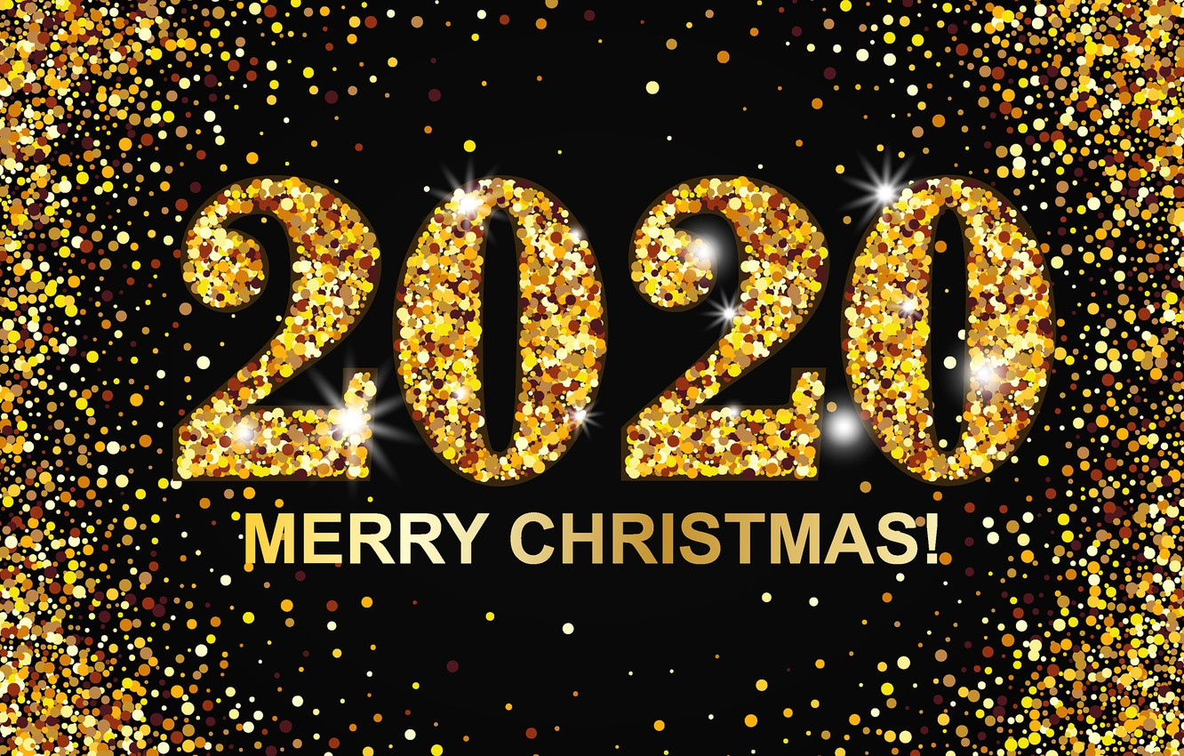 Wallpaper figures, New year, gold