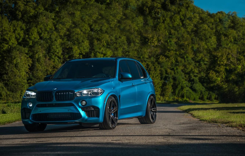 Photo wallpaper BMW, Light, Blue, Green, X5M, Sight, LED, F85
