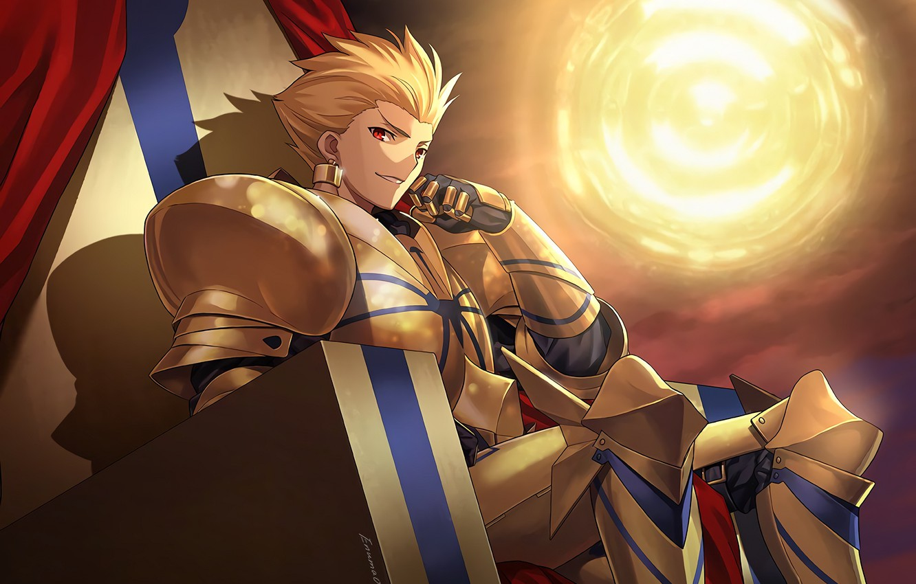 Wallpaper Gilgamesh Archer The Fate Of The Beginning Fate