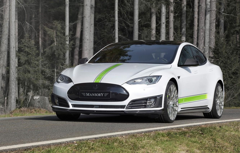 Photo wallpaper Tesla, Mansory, Model S, 2016