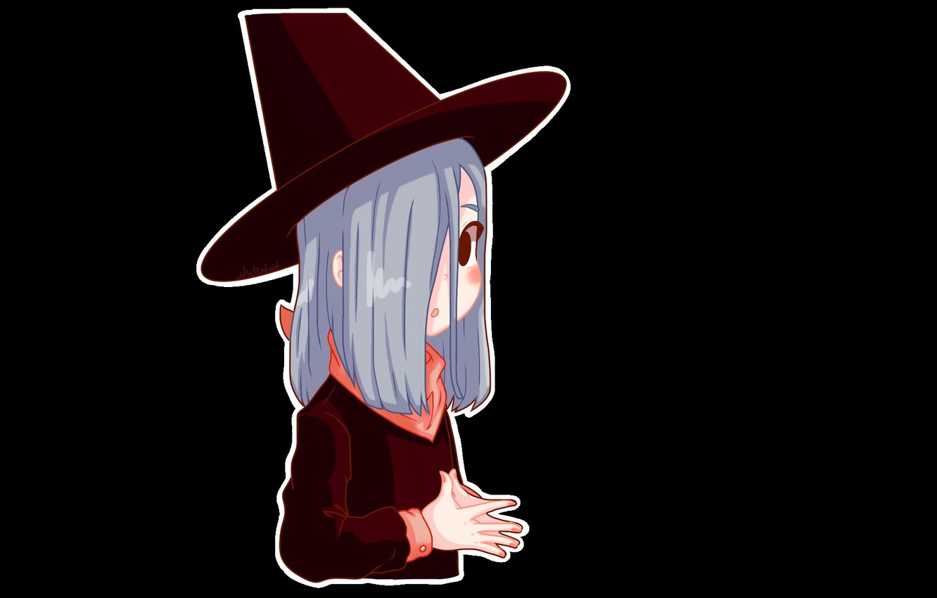 Photo wallpaper halloween, witch, witch hat, witch, black magic, by Nintenloid