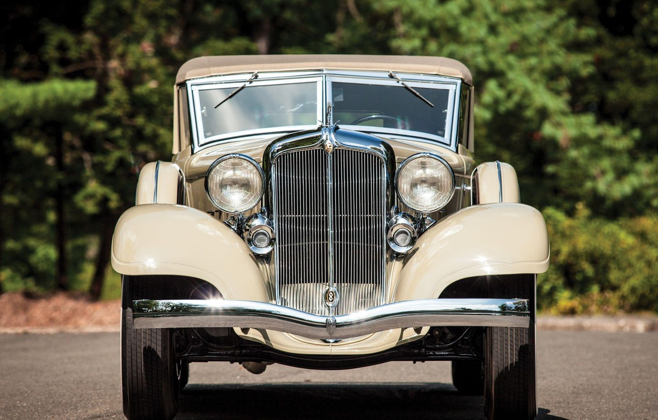 Photo wallpaper Roadster, front view, Convertible, Chrysler Custom Imperial