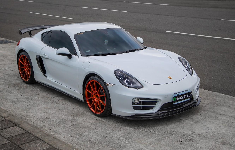 Photo wallpaper Porsche, Exhaust, 981, Armytrix, Valvetronic