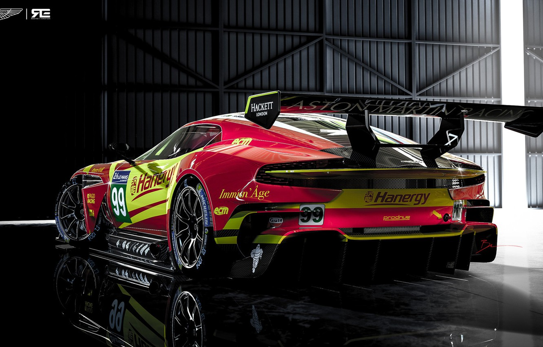 Photo wallpaper Aston Martin, The Mans, Machine, Rendering, GTE, Sports car, Vulcan, Aston Martin Vulcan, Benoit Fraylon, …