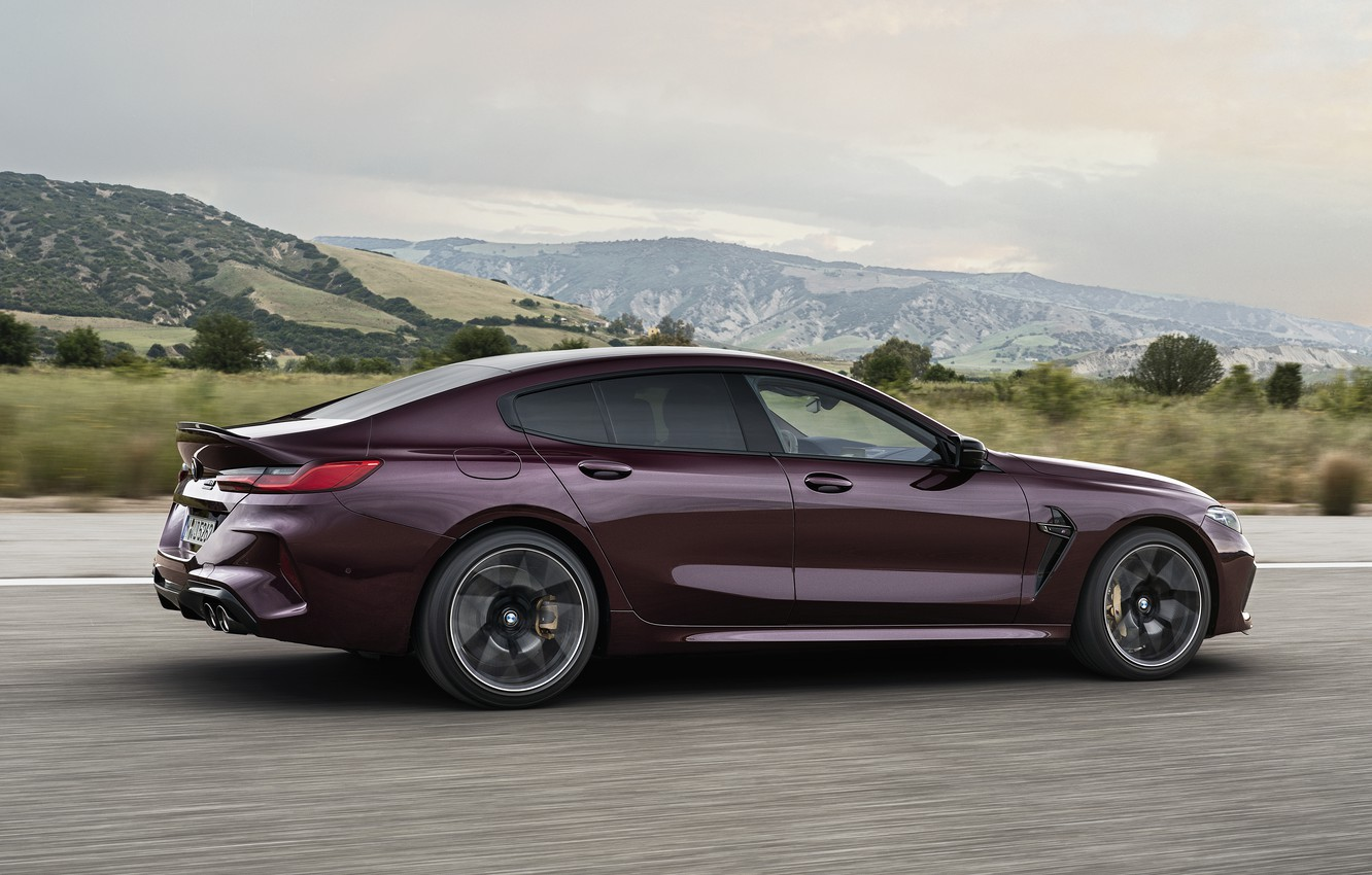 Photo wallpaper coupe, BMW, in motion, 2019, M8, the four-door, M8 Gran Coupe, M8 Competition Gran Coupe, …