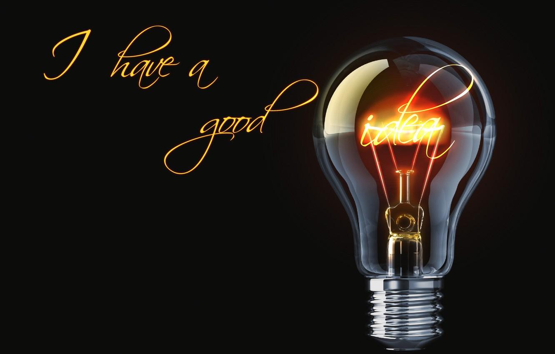 Wallpaper Light Bulb Light Attitude Black The Idea Inventor