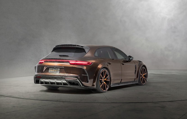 Photo wallpaper Porsche, Panamera, Turismo, rear view, 2018, Sport, Mansory